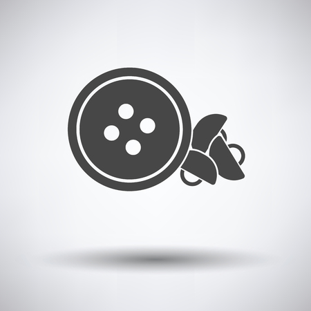 icon buttons: Sewing buttons icon on gray background, round shadow. Vector illustration. Illustration