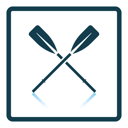 oars: Icon of  boat oars. Shadow reflection design. Vector illustration. Illustration