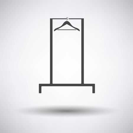 clothes rail: Hanger rail icon on gray background, round shadow. Vector illustration. Illustration