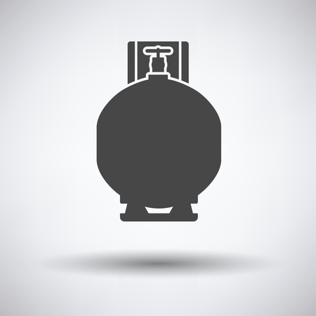 gas cylinder: Gas cylinder icon on gray background, round shadow. Vector illustration.