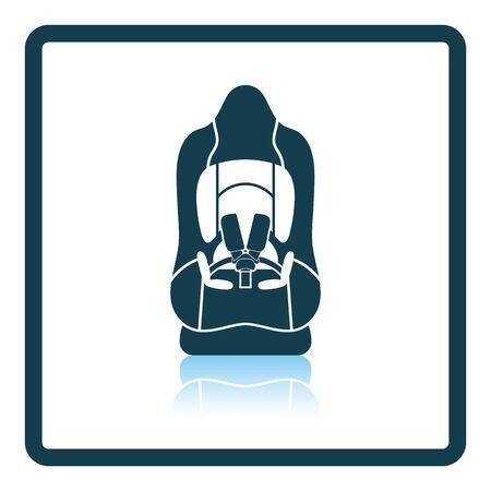 car seat: Baby car seat icon. Shadow reflection design. Vector illustration. Illustration