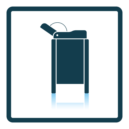 changing room: Baby swaddle table icon. Shadow reflection design. Vector illustration.