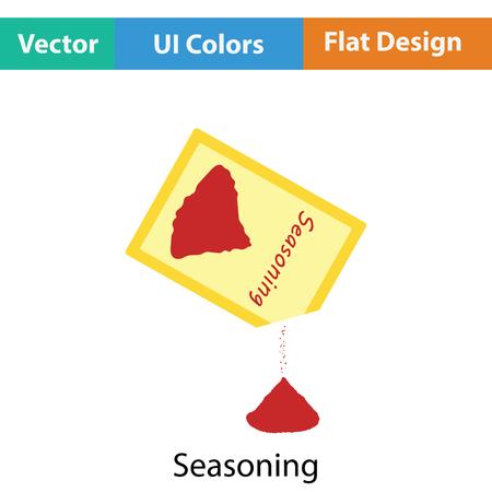 Assaisonnement package icône. Appartement design de couleur. Vector illustration.