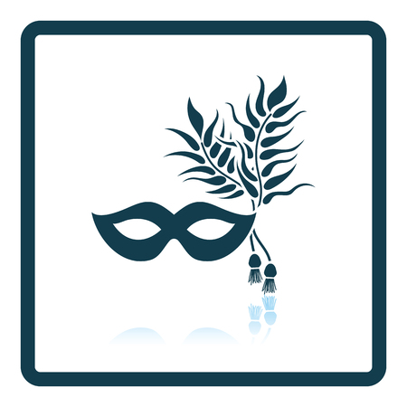 decoration decorative disguise: Party carnival mask icon. Shadow reflection design. Vector illustration. Illustration
