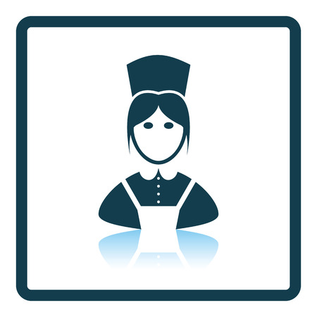 homemakers: Hotel maid icon. Shadow reflection design. Vector illustration. Illustration