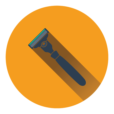 Safety razor icon. Flat color design. Vector illustration.