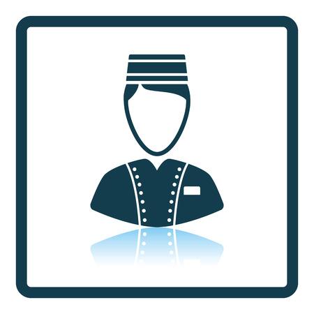 doorkeeper: Hotel boy icon. Shadow reflection design. Vector illustration.