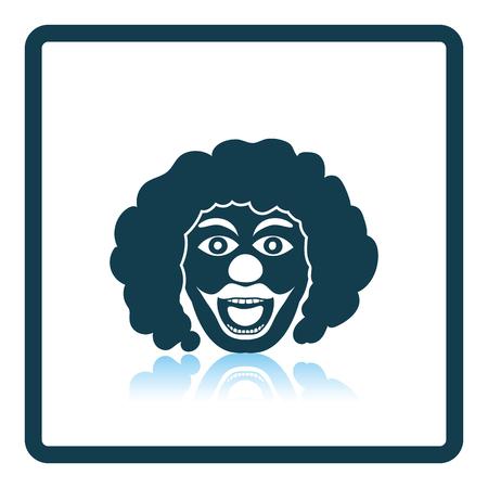 clown face: Party clown face icon. Shadow reflection design. Vector illustration. Illustration