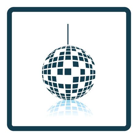objetos cuadrados: Parte icono del disco esfera. diseño de la sombra reflexión. Ilustración del vector. Vectores