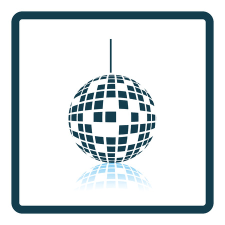 orbs: Party disco sphere icon. Shadow reflection design. Vector illustration.