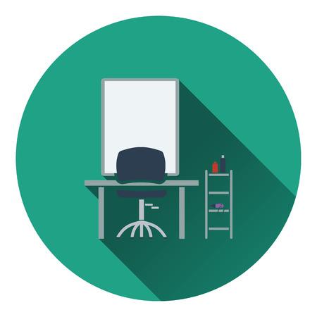 barbershop: Barbershop icon. Flat color design. Vector illustration.