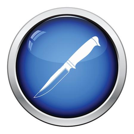sheath: Knife icon. Glossy button design. Vector illustration. Illustration