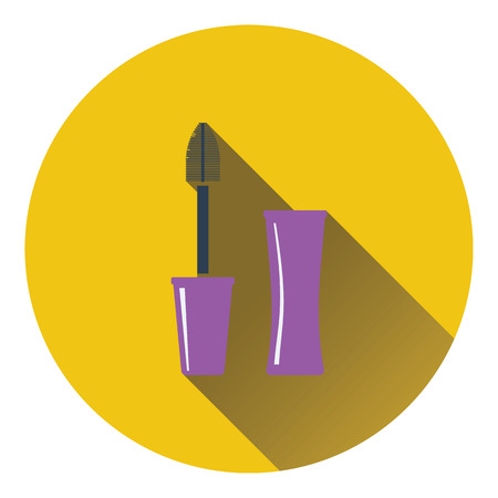Mascara icon. Flat color design. Vector illustration. Illustration