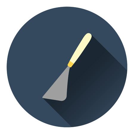 palette knife: Palette knife icon. Flat color design. Vector illustration.