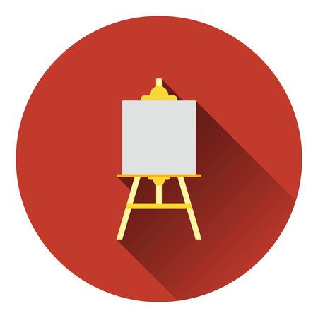 easel: Easel icon. Flat color design. Vector illustration. Illustration