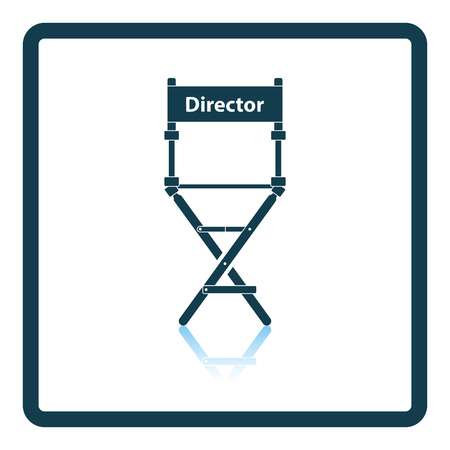 video camera: Director chair icon. Shadow reflection design. Vector illustration.