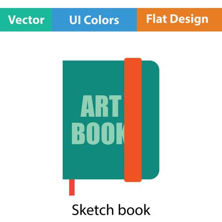 sketch book: Sketch book icon. Flat color design. Vector illustration. Illustration