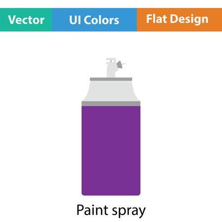 compressed gas cylinder: Paint spray icon. Flat color design. Vector illustration. Illustration