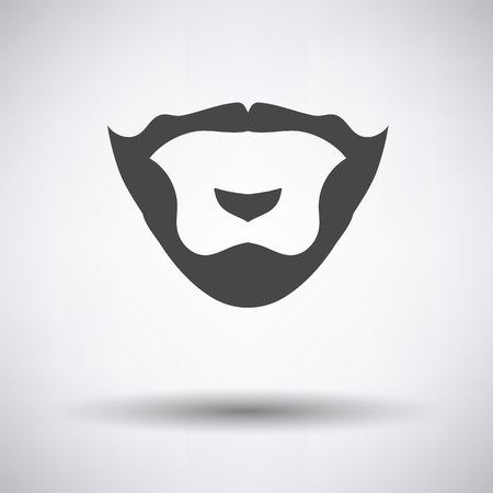 burly: Goatee icon on gray background, round shadow. Vector illustration. Illustration