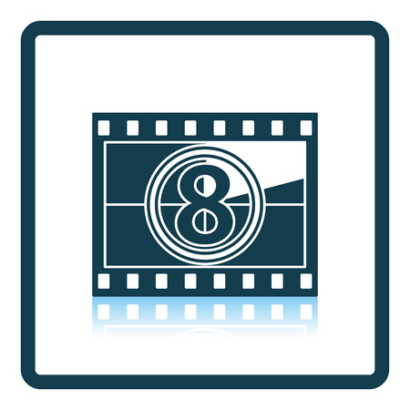 countdown: Movie frame with countdown icon. Shadow reflection design. Vector illustration.