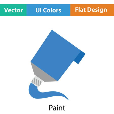 paint tube: Paint tube icon. Flat color design. Vector illustration.