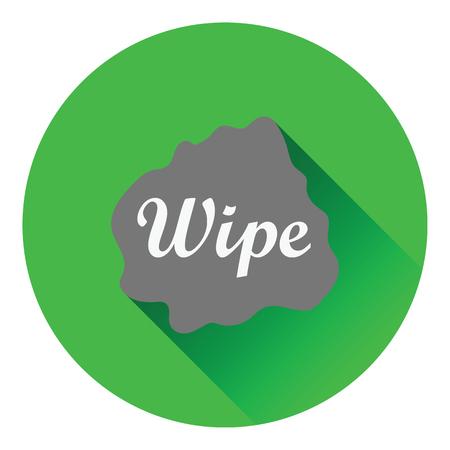 wipe: Wipe cloth icon. Flat color design. Vector illustration.