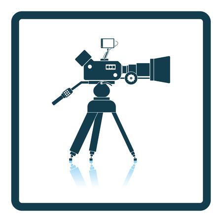 televisions: Movie camera icon. Shadow reflection design. Vector illustration.