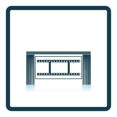 auditorium: Cinema theater auditorium icon. Shadow reflection design. Vector illustration.