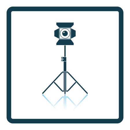 stage projector: Stage projector icon. Shadow reflection design. Vector illustration. Illustration