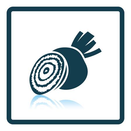 Beetroot  icon. Shadow reflection design. Vector illustration.