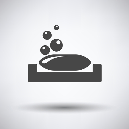 Soap-dish icon on gray background, round shadow. Vector illustration. Illustration