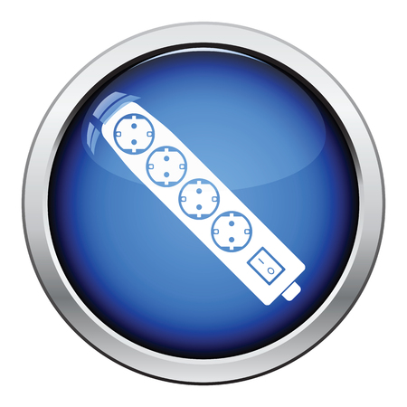 Électrique icône de l'extension. bouton design brillant. Vector illustration. Vecteurs