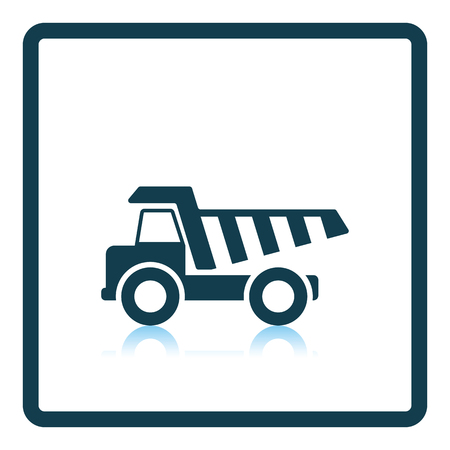 tipper: Icon of tipper. Shadow reflection design. Vector illustration.