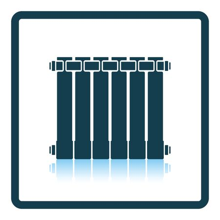 thawing: Icon of Radiator. Shadow reflection design. Vector illustration. Illustration