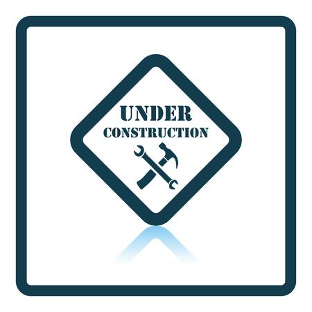 refit: Icon of Under construction. Shadow reflection design. Vector illustration.