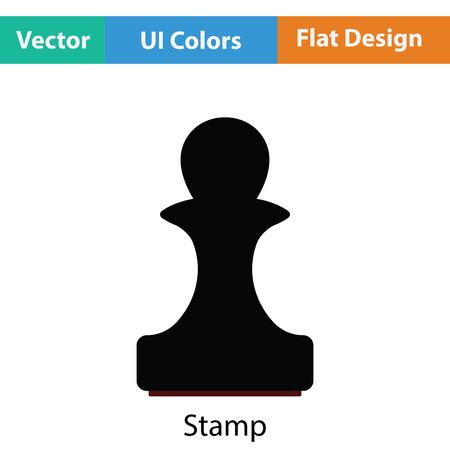 stamp design: Stamp icon. Flat color design. Vector illustration.