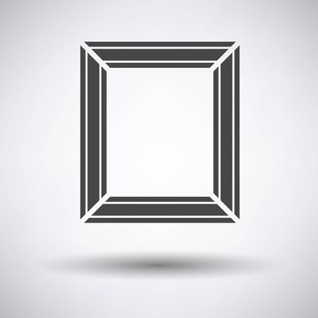 frameworks: Picture frame icon on gray background, round shadow. Vector illustration. Illustration
