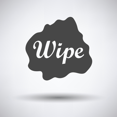 wipe: Wipe cloth icon on gray background, round shadow. Vector illustration.