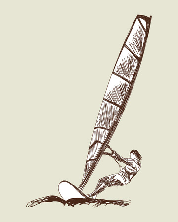 windsurf: Windsurfing sketch set.