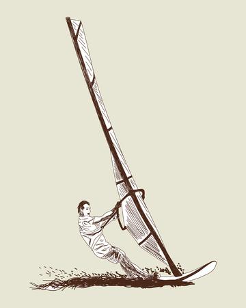 windsurf: Windsurf conjunto de dibujos.