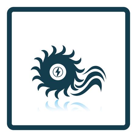 barrage: Water turbine icon. Shadow reflection design. Vector illustration. Illustration