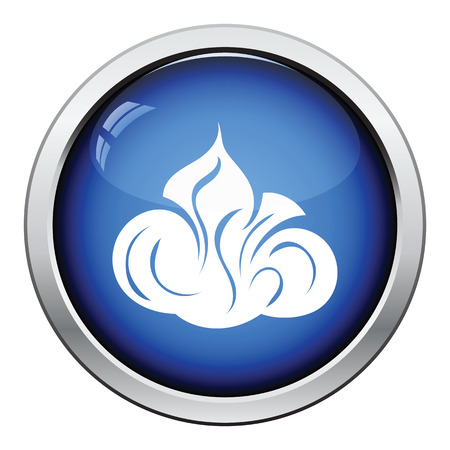 emulsion: Shaving foam icon. Glossy button design. Vector illustration.