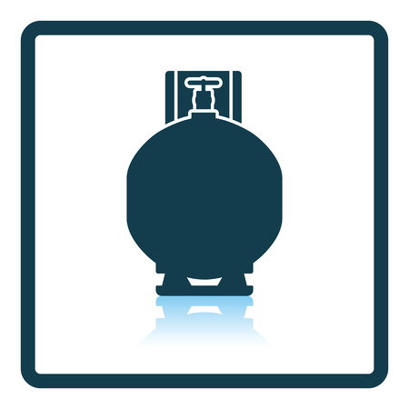 gas cylinder: Gas cylinder icon. Shadow reflection design. Vector illustration. Illustration