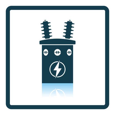 Electric Transformer Icon. Shadow Reflection Design. Vector ...