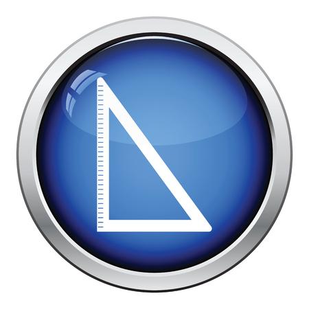 triangle button: Icon of Triangle. Glossy button design. Vector illustration. Illustration