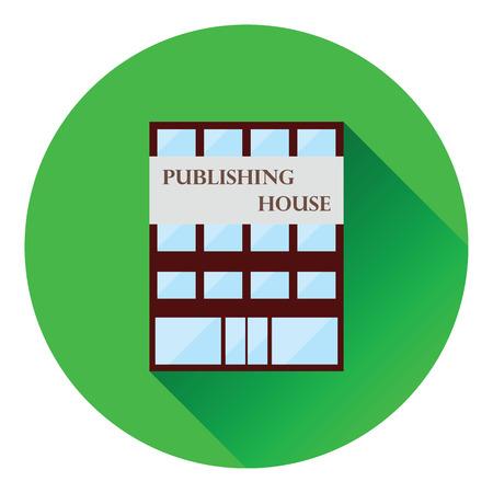 issuer: Publishing house icon. Flat color design. Vector illustration. Illustration