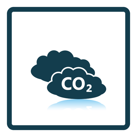 greenhouse gas: CO 2 cloud icon. Shadow reflection design. Vector illustration. Illustration