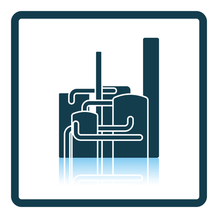 chemical plant: Chemical plant icon. Shadow reflection design. Vector illustration. Illustration