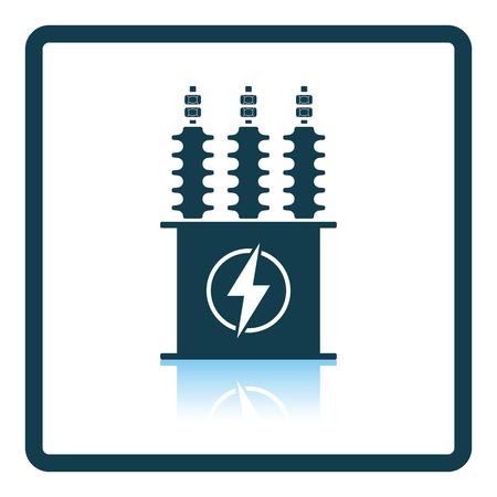 Électrique icône de transformateur. conception de la réflexion de l'ombre. Vector illustration.