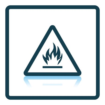 flammable: Flammable icon. Shadow reflection design. Vector illustration.